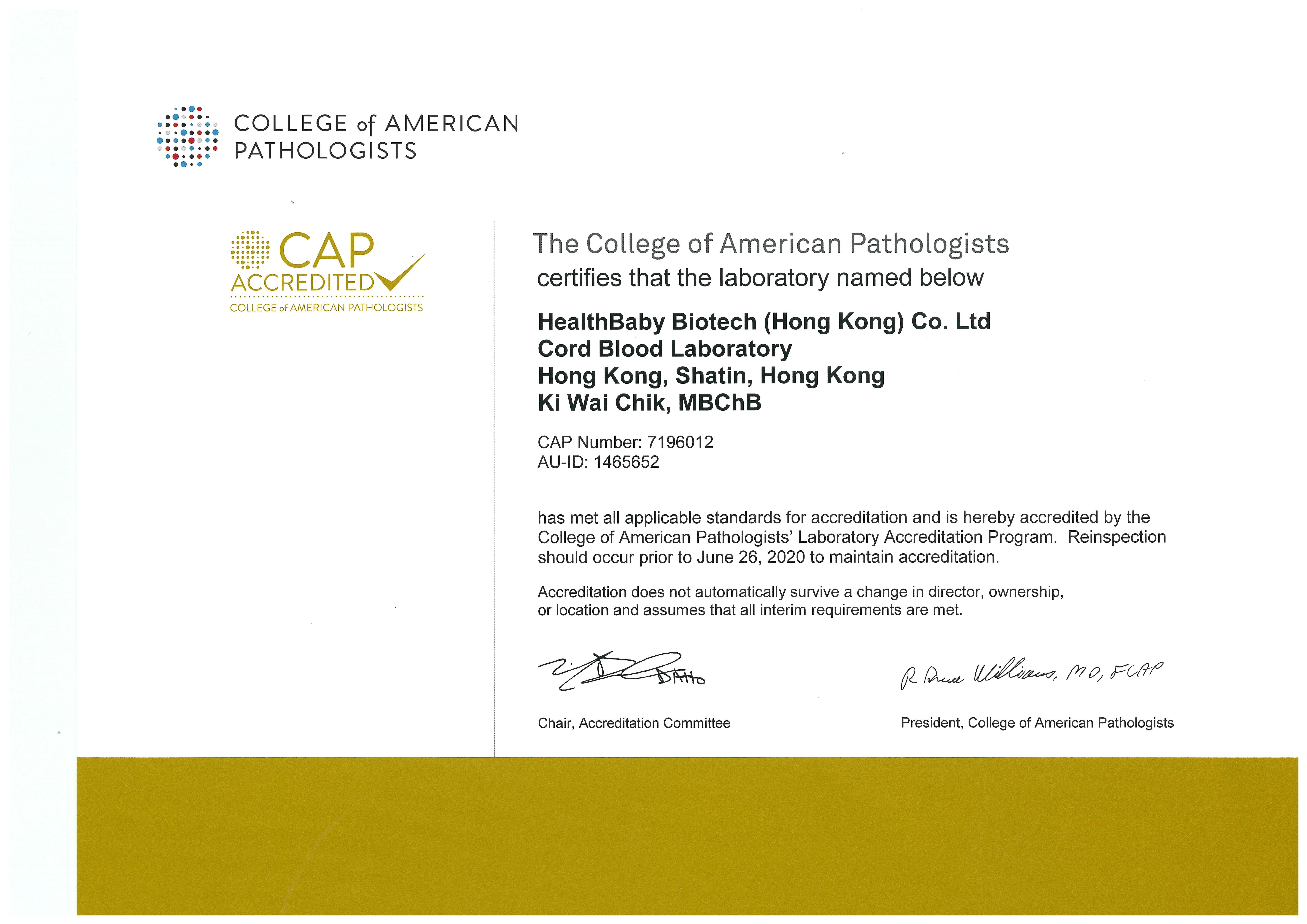 College of American Pathologists (CAP)